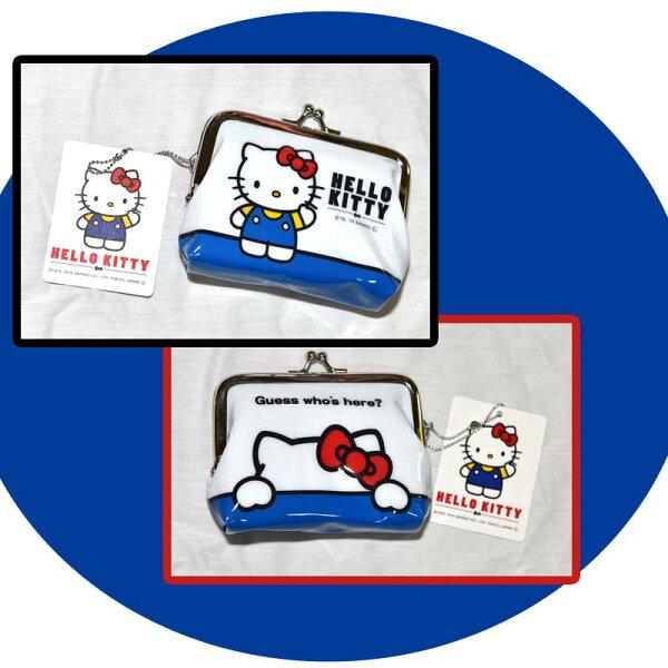 Hello Kitty 珠扣 口金 零錢包 日本正版商品