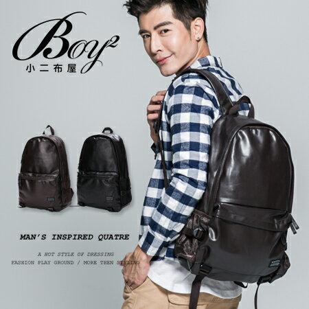 ~BOY~2~~NQA5074~韓式休閒皮革後背包