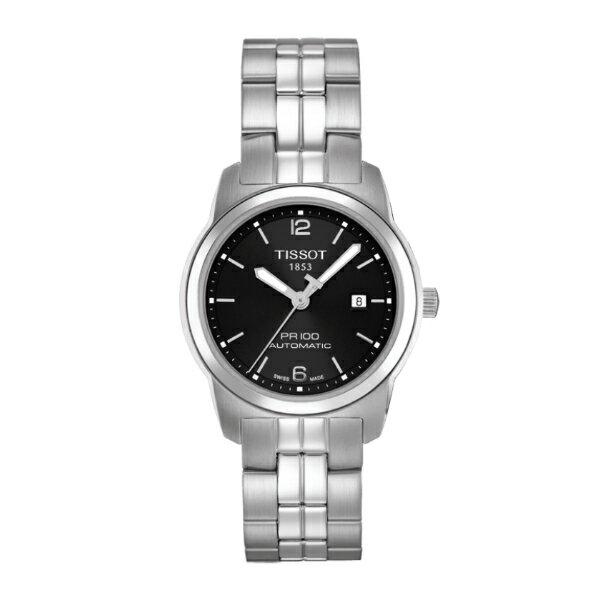 TISSOT天梭T0493071105700 PR100經典機械腕錶/黑面28mm