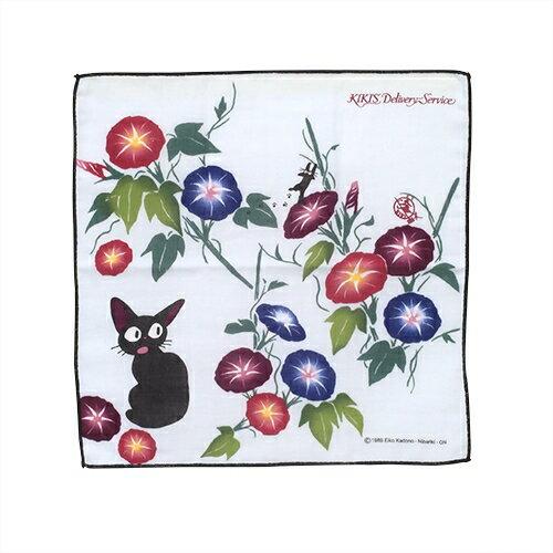 【真愛日本】16051300067日本製和風紗布手巾-JIJI牽牛花     魔女宅急便 黑貓 奇奇貓 毛巾 擦手巾