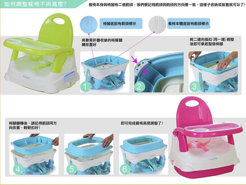 『121婦嬰用品館』傳佳知寶 babyhood 咕咕餐椅-湖藍 (附透明餐盤) (附透明餐盤) 4