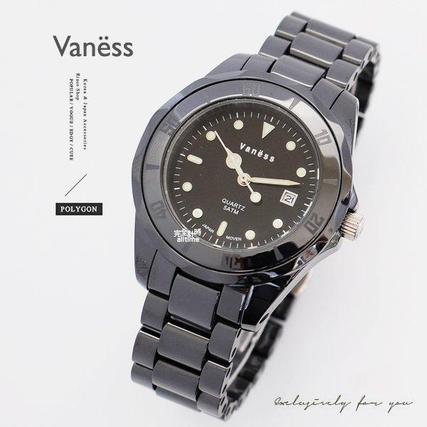 【完全計時】手錶館│Vaness 時尚經典簡約精密陶瓷腕錶 V33 禮物 母親節首選 刻度清楚