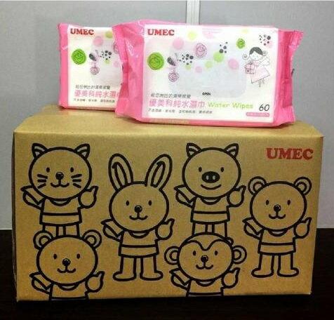 『121婦嬰用品館』優美科 純水濕巾60抽(加厚型) - 12包/箱