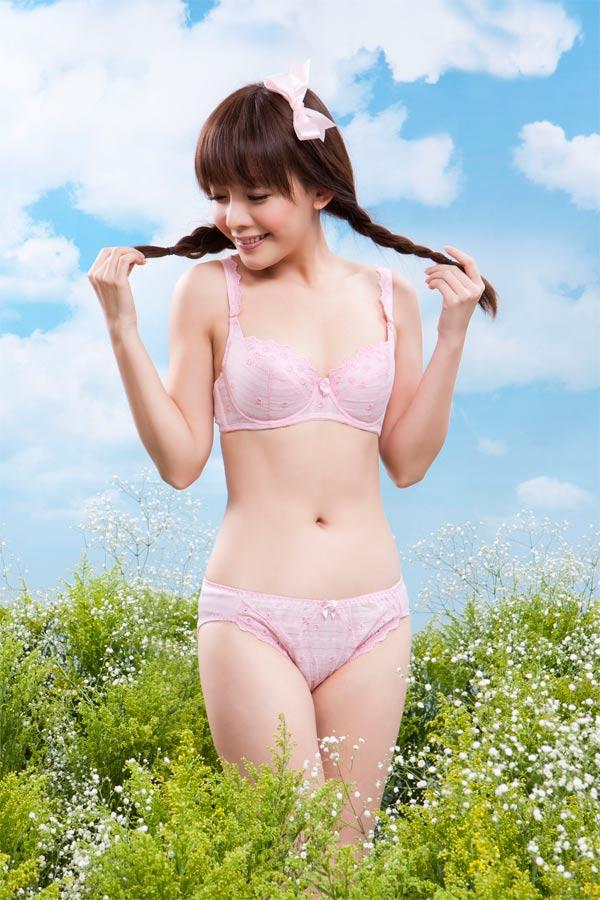 【AJM】花園甜心女孩 三角褲(粉) 1