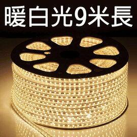 【鄉野情戶外專業】 露營專用LED5050 加寬防水燈條(暖白光)/露營燈 串燈 裝飾燈/附收納袋 【9米 附插頭】