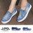 格子舖*【AS1636】基本款百搭英文字母星星 刷白破壞牛仔帆布懶人鞋 布面/帆布鞋 2色 0