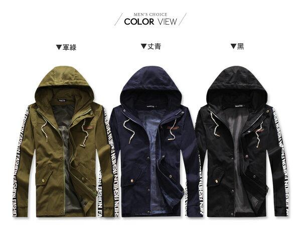 ☆BOY-2☆ 【OE58005】美式拼接立領軍裝外套 2