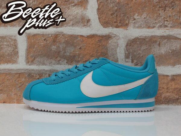 女生 BEETLE NIKE CLASSIC CORTEZ NYLON 藍 阿甘鞋 慢跑鞋 749864-410 24