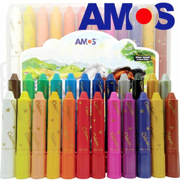 韓國AMOS 24色粗款神奇水蠟筆(台灣總代理公司貨)