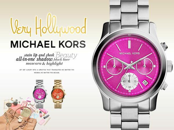 美國Outlet 美國正品代購 Michael Kors MK 不鏽鋼 銀錶帶 三環 計時 日曆 手錶 腕錶 MK6160