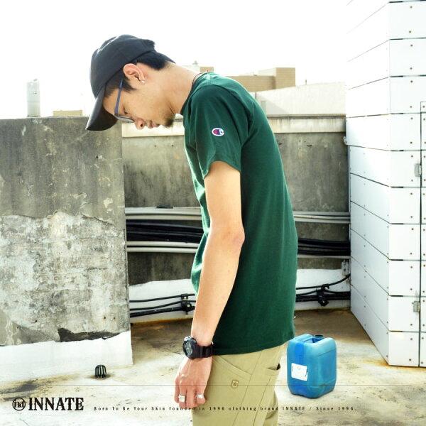 《Champion》【夏日百搭素面短T】黑/深灰/深藍/白/綠 正版 美規