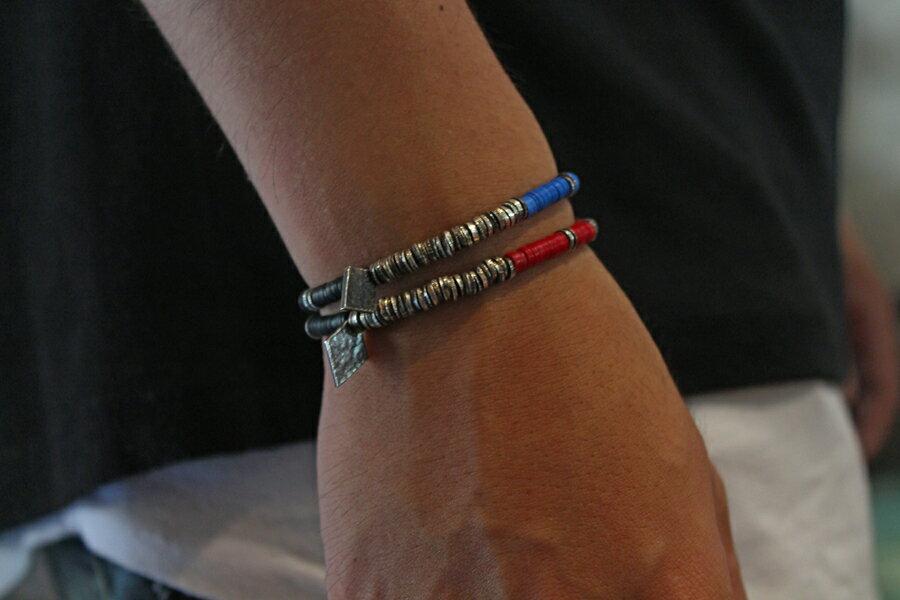 【現貨商品】【M.Cohen】非洲風紅色串珠彈性手環 (MC-B-10751-OXI-RED 0839670201) 2
