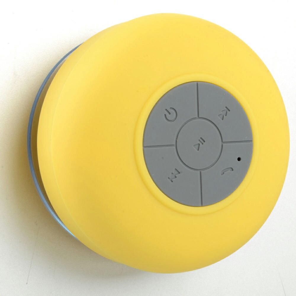 Altavoz Acuático Amarillo Waterproof con Ventosa, Bluetooth y Manos Libres 1