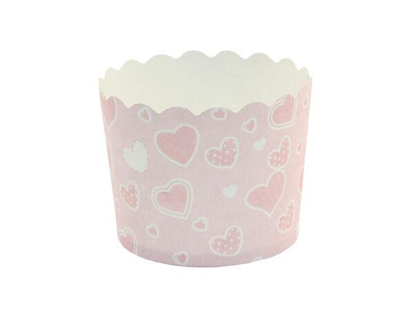 瑪芬杯、杯子蛋糕、烘烤紙杯 MF6256-15 粉底愛心(50pcs/包)
