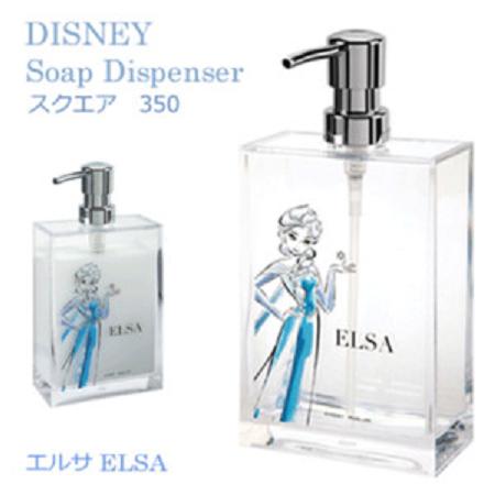 X射線【C445466】Disney沐浴乳罐-艾莎,補充空瓶/沐浴罐/洗髮乳/乳液罐/衛浴用品/浴室/冰雪奇緣