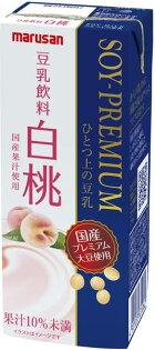 MARUSAN丸三一上豆乳-白桃(200ml)