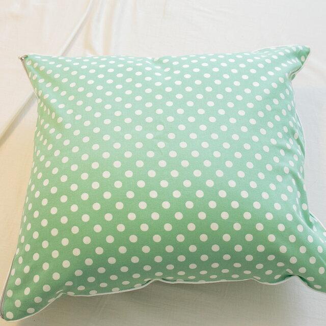 青草綠點點抱枕  45cmx45cm 精選素材 復古 純棉 5