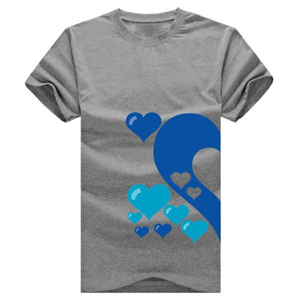 ◆快速出貨◆獨家配對情侶裝.客製化.T恤.最佳情侶裝.獨家款.純棉短T.MIT台灣製.藍色簍空愛心【Y0021】可單買.艾咪E舖 7