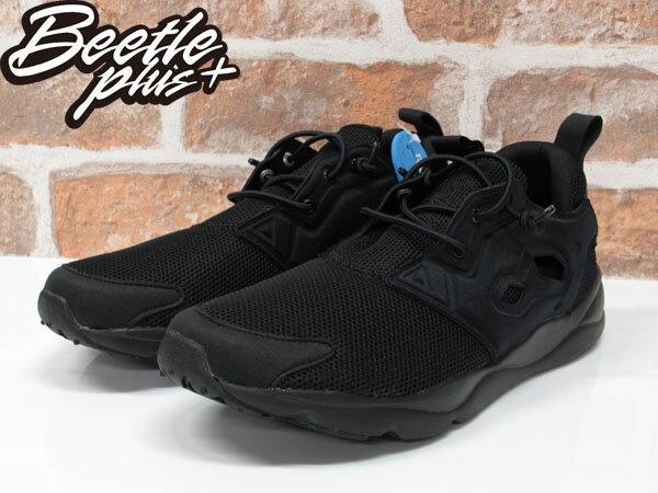 男生 BEETLE REEBOK FURYLITE 全黑 黑魂 襪套 休閒 慢跑鞋 V67159 1