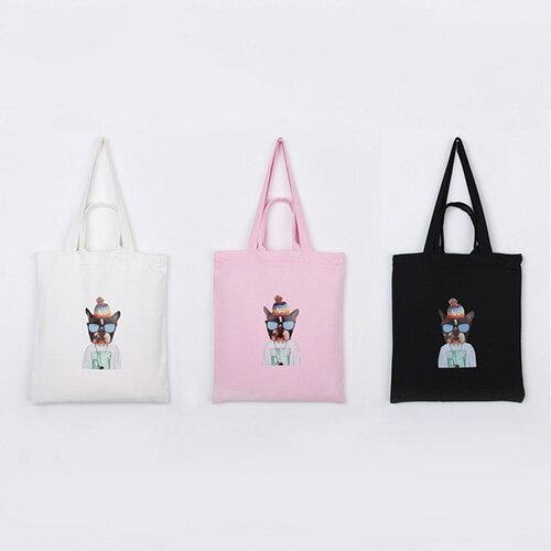 手提包 手提包 帆布袋 手提袋 環保購物袋--手提/單肩/拉鏈【SPA91】 BOBI  10/06 0