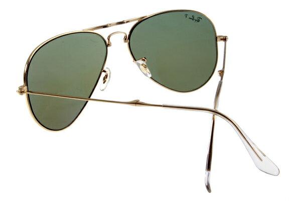 Ray Ban 雷朋 金邊綠鏡 折疊太陽眼鏡 RB3479 6