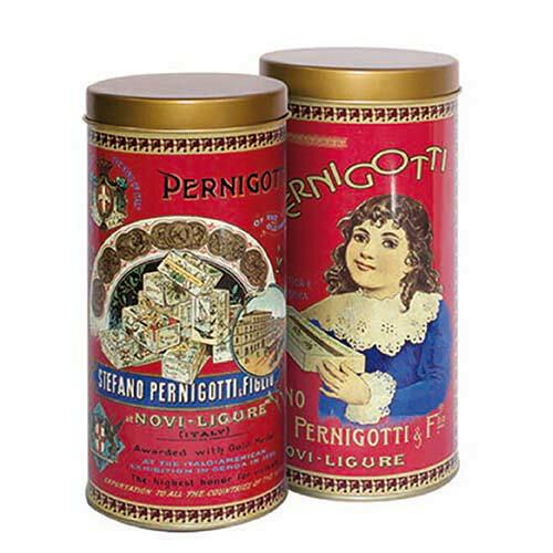 【派尼克帝PERNIGOTTI】義大利進口金磚巧克力★復古圓罐系列/紅色款★焦糖榛果醬黑巧克力+焦糖榛果醬牛奶巧克力綜合