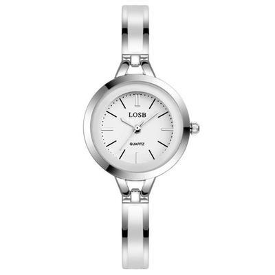 藍寶石水晶玻璃鏡面石英錶防水女士手鍊錶十天  ~  好康折扣