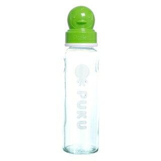 『121婦嬰用品館』PUKU 超厚防滑標準玻璃奶瓶  -綠240ml 0