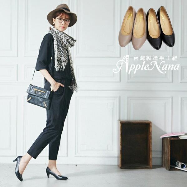 AppleNana。人人必備完美鞋楦絕對好穿羊皮尖頭高跟鞋【QC1301380】蘋果奈奈 4