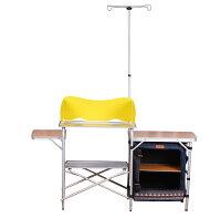 新手露營用品推薦到野樂民族風行動廚房單櫃 ,雙層鋁桌板 ARC-765 野樂 Camping Ace