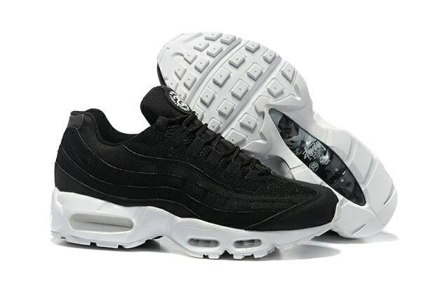 Nike  Stüssy x Nike Air Max 95 Anniversary 氣墊運動慢跑鞋潮鞋 黑白 US7-11