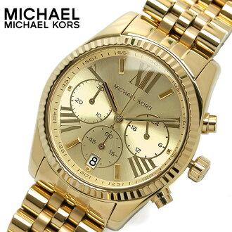 美國Outlet正品代購 MichaelKors MK  男女中性金色鋼帶錶 手錶 MK5556
