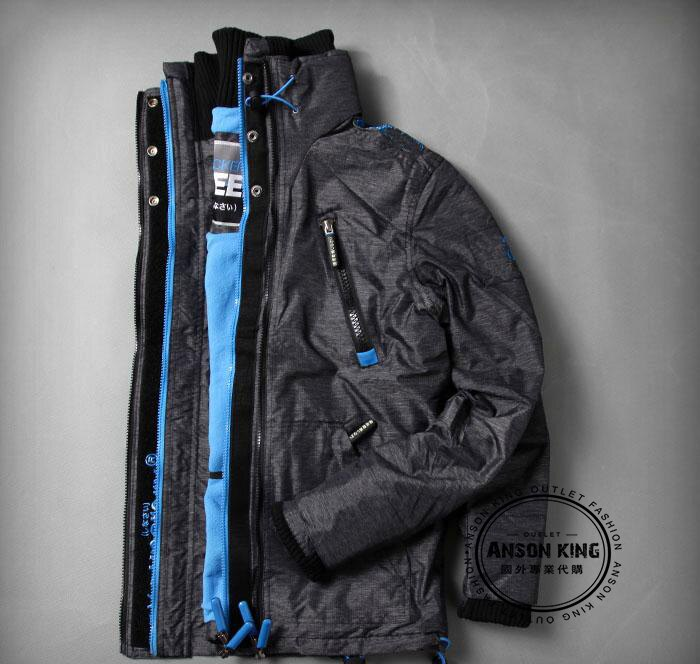 [男款] 英國名品 代購 極度乾燥 Superdry Polar Wind Attacke 男士防水防風戶外休閒外套夾克 深灰/藍 2