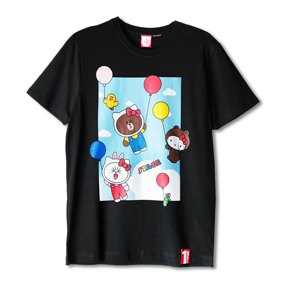 STAGE x HELLO FRIENDS 聯名限定 STAGE COLOR BALLOON TEE 2