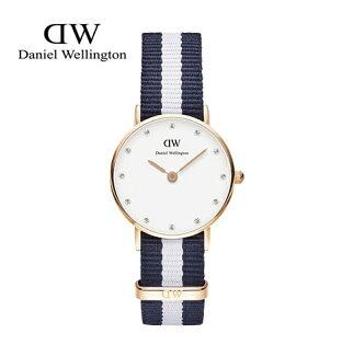 瑞典正品代購 Daniel Wellington 0908DW 銀 玫瑰金 尼龍 帆布錶帶 女錶手錶腕錶 26MM