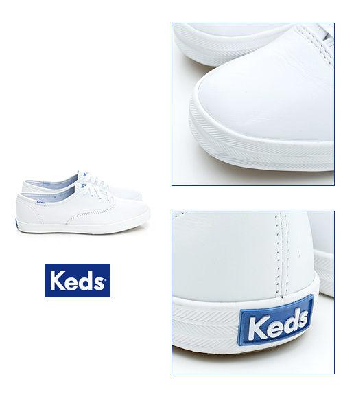 Keds 經典升級皮質綁帶休閒鞋(白皮革) 白鞋│綁帶│懶人鞋│平底 2