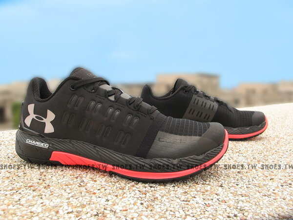 Shoestw【1274415-002】UNDER ARMOUR 慢跑鞋 Charged Core 黑桃紅 訓練鞋
