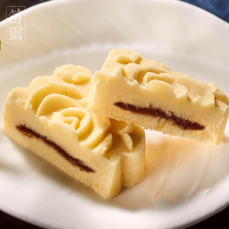 細緻如雪綠豆糕(15入)-笛爾手作現烤蛋糕  手工磨製綠豆仁,一泯綠豆清香滿溢嘴中! 1