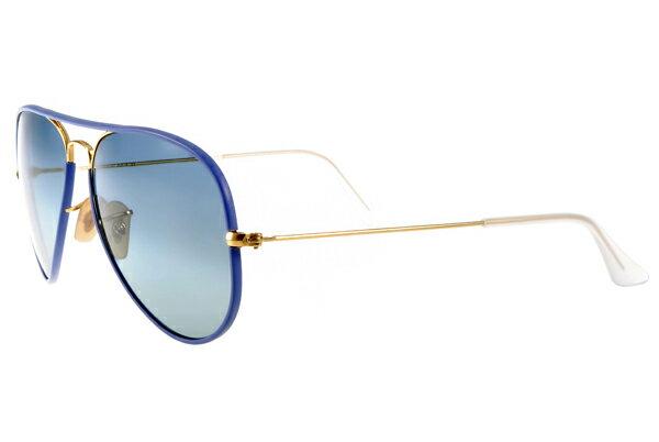 Ray Ban 雷朋  藍色金邊 RB3025JM 太陽眼鏡 4