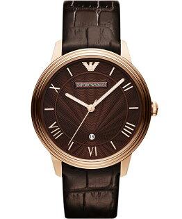 EMPORIO ARMANI/AR1613經典放射紋時尚腕錶/咖啡面42mm