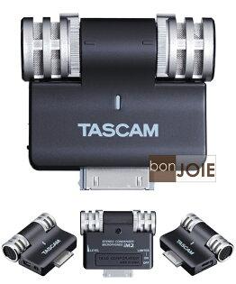 ::bonJOIE:: 全新盒裝 TASCAM iM2 專業型 電容式 立體聲麥克風 (黑色) iPhone iPod iPad 專用