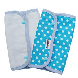 PUKU藍色企鵝 - 揹帶口水巾 (2入裝) -藍 0