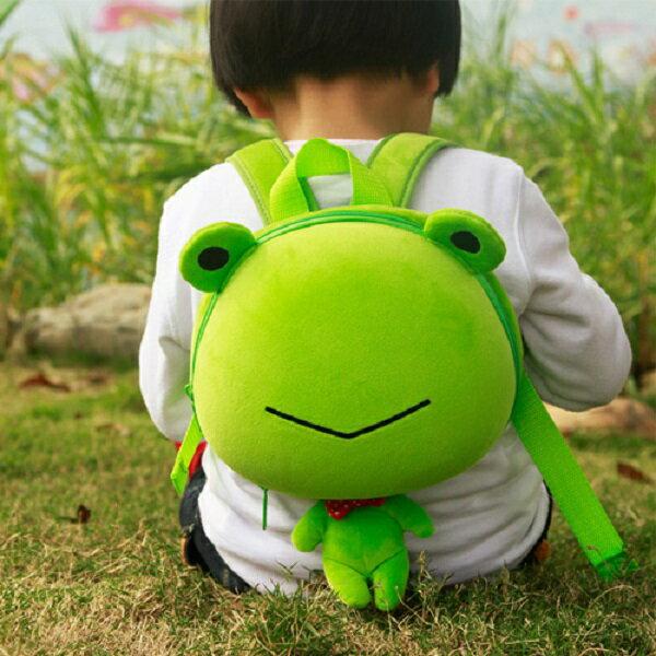 香港【Supercute】動物造型後背包 - 綠小蛙 - 限時優惠好康折扣