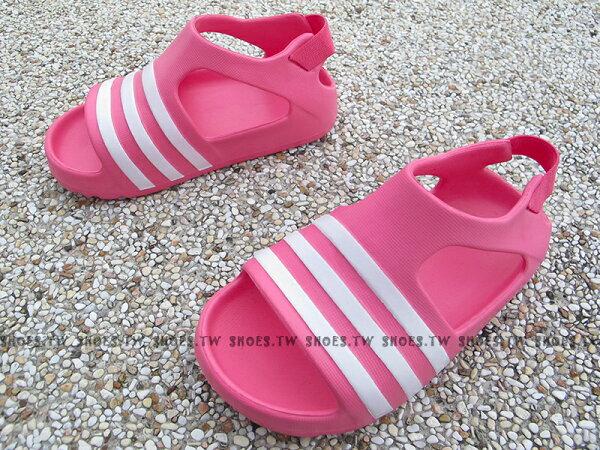 Shoestw【S74735】ADIDAS 童鞋 涼鞋 小童 Adilette Play I 粉紅