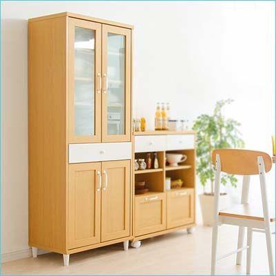 櫥櫃 收納櫃廚房收納  E1無毒環保低甲醛板材 北歐自然輕色系列~天空樹 館~^(f4^)
