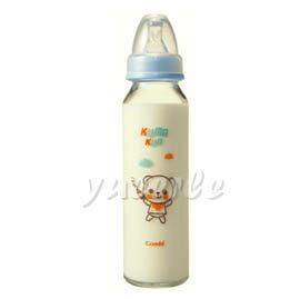 【悅兒樂婦幼用品舘】Combi 康貝 Kuma Kun 標準口耐熱玻璃哺乳瓶240ml (藍) ~新品上市~