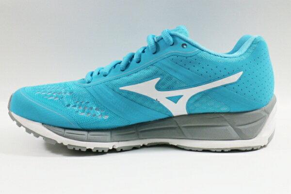 [陽光樂活] MIZUNO 美津濃 翁滋蔓代言款  SYNCHRO MX(W)女慢跑鞋  (水藍X白)  J1GF161901