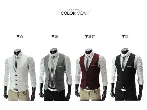 ☆BOY-2☆【NQ98071】紳士修身西裝背心 1
