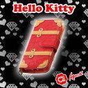 ☆ Hello Kitty ☆ 凱蒂貓紅色皮革壓紋行李箱手帳型手機皮套 【亞古奇 Aguchi】