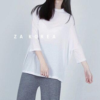ZA 基本款柔軟絲質垂領T(白,藍,黑)